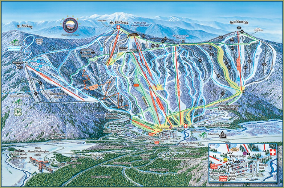 Bretton Woods Ski Map