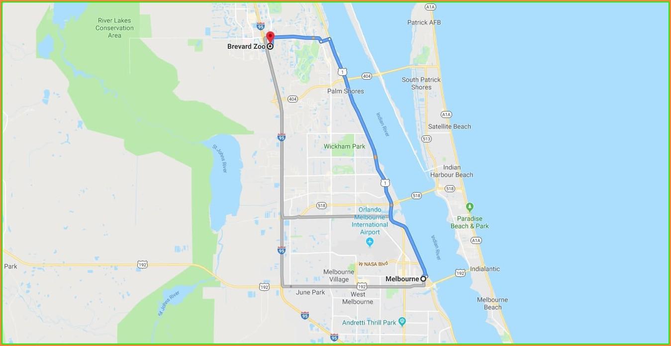 Brevard Zoo Map 2019