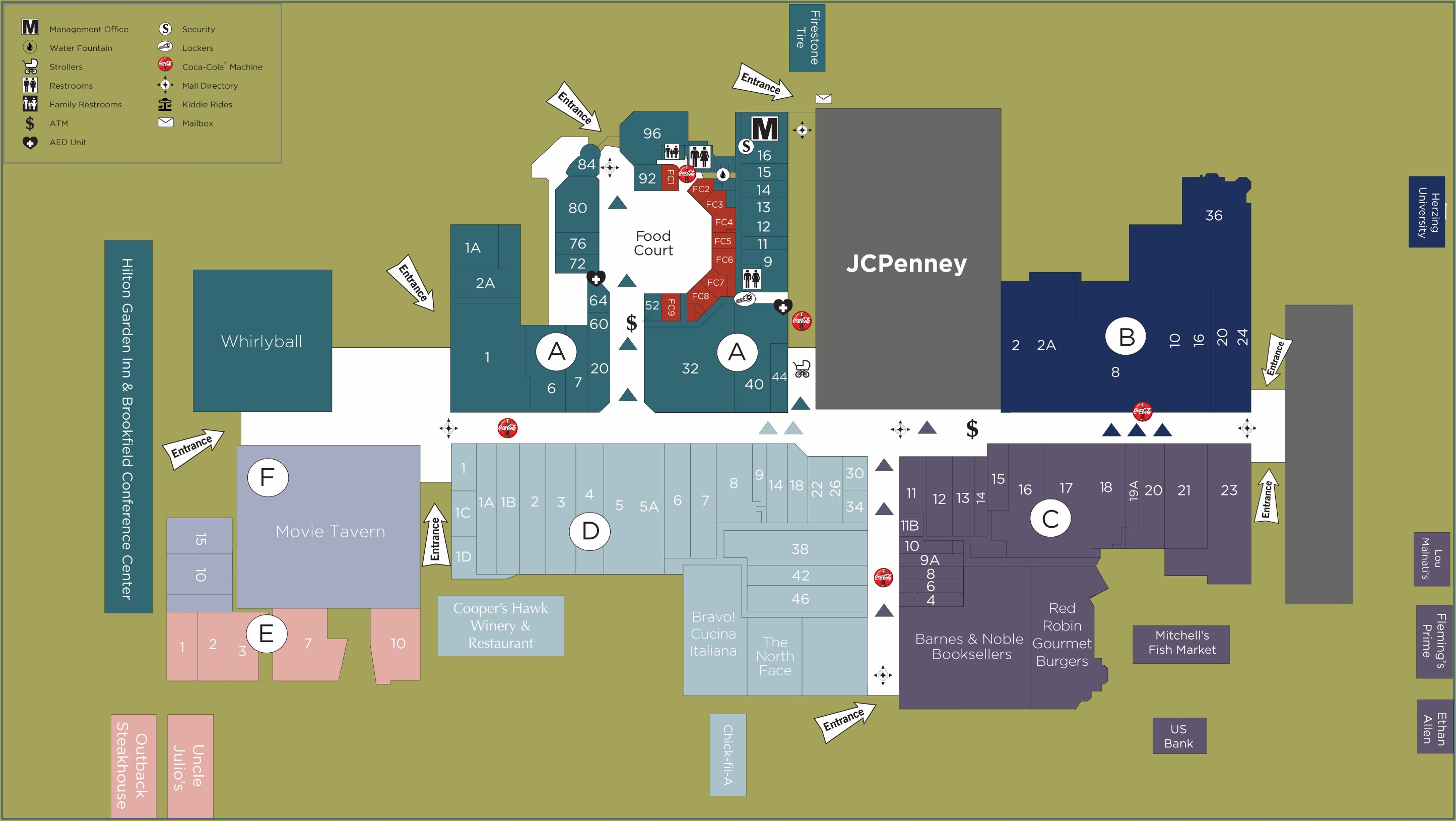 Brookfield Square Mall Map