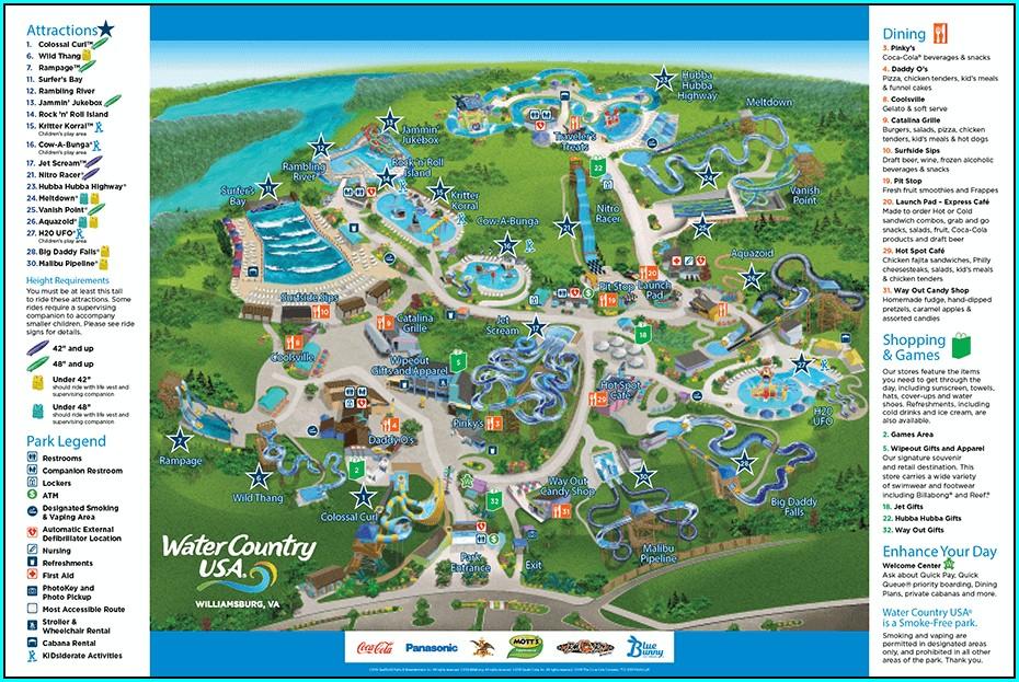 Busch Gardens Rides Map