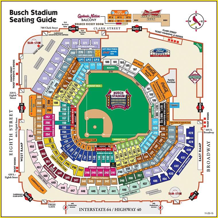 Busch Stadium Interactive Map