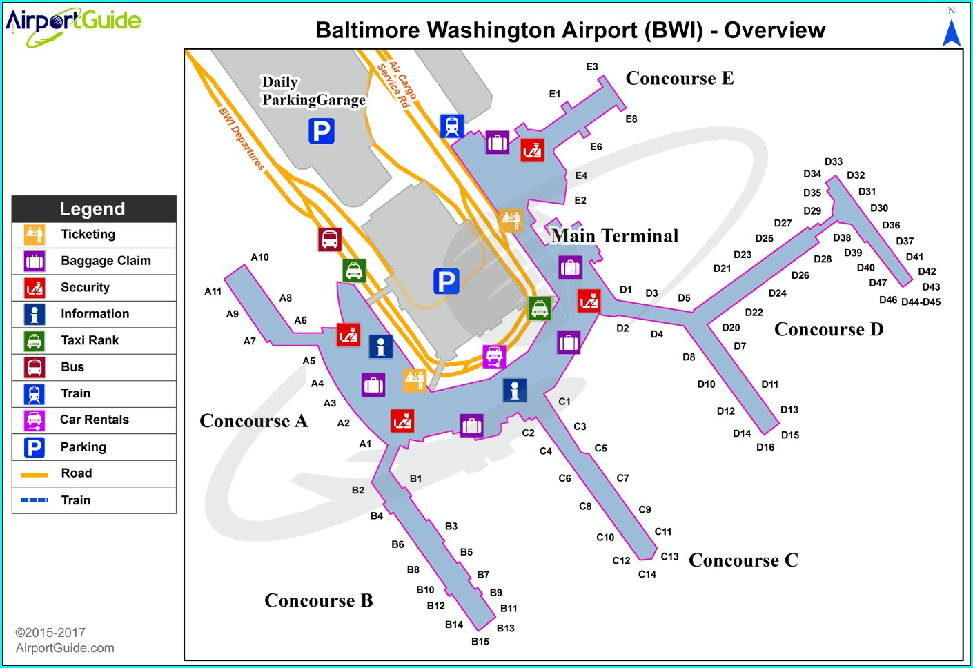 Bwi Airport Hotels Map