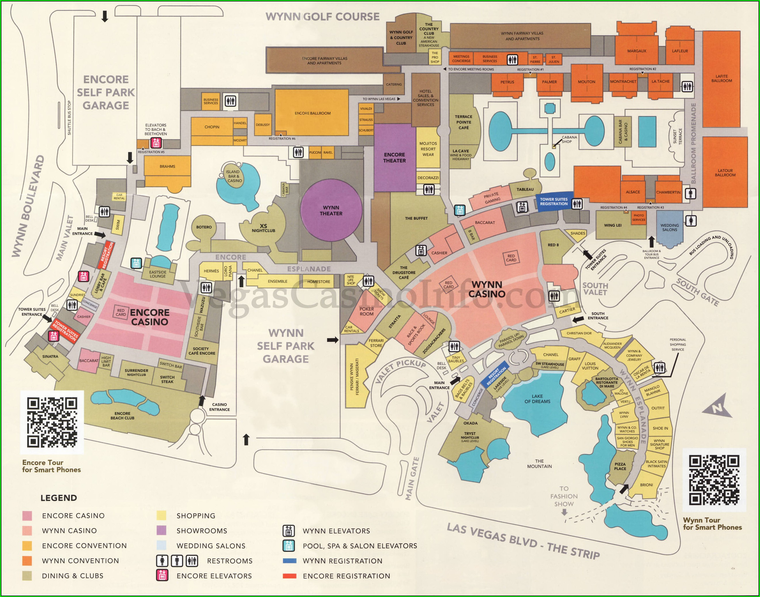 Caesars Palace Layout Map