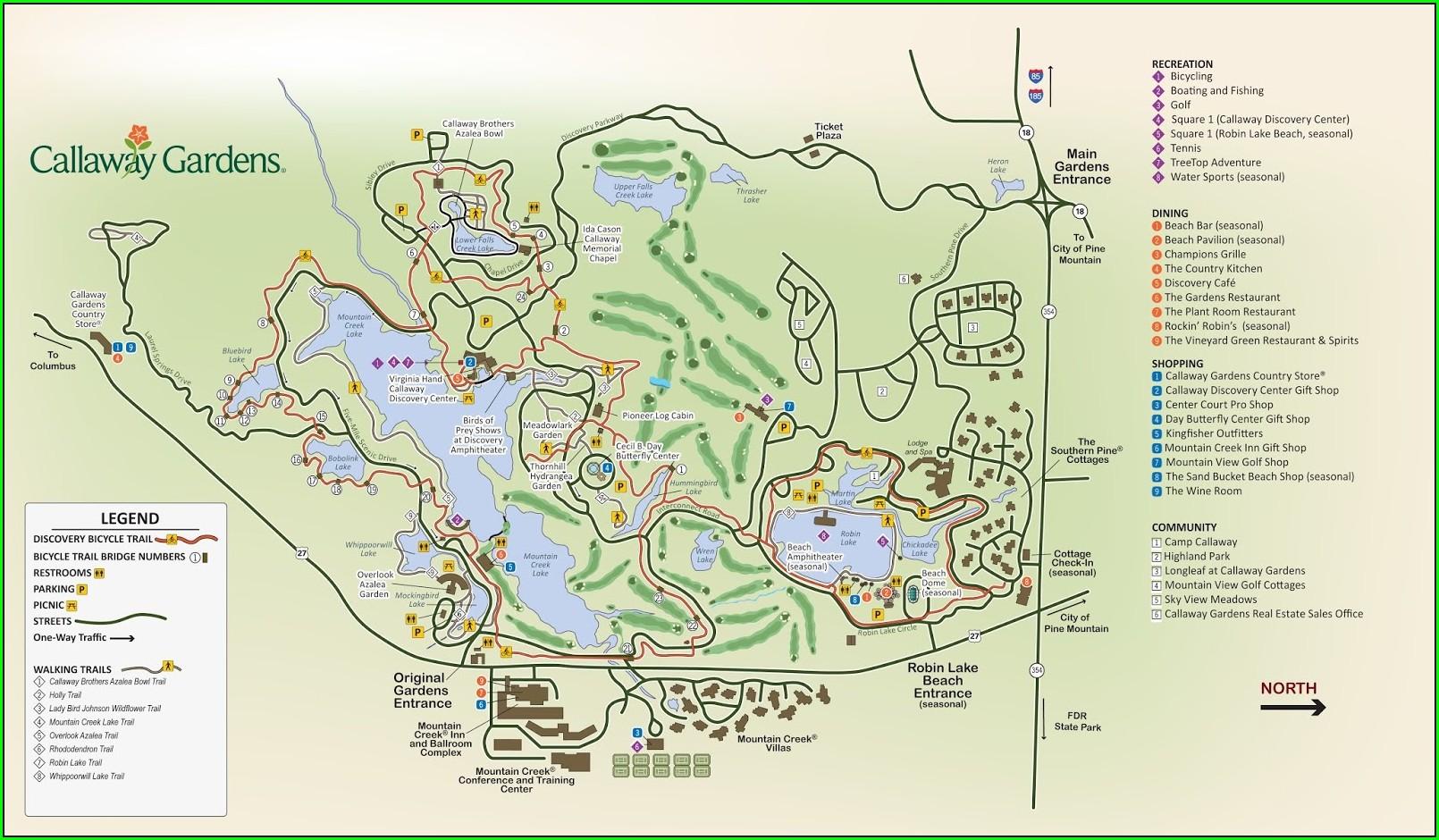 Callaway Gardens Property Map