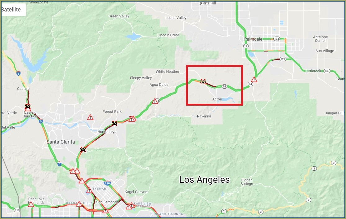 Caltrans Road Closures Map