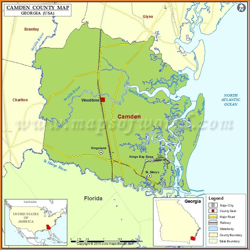 Camden County Ga Maps