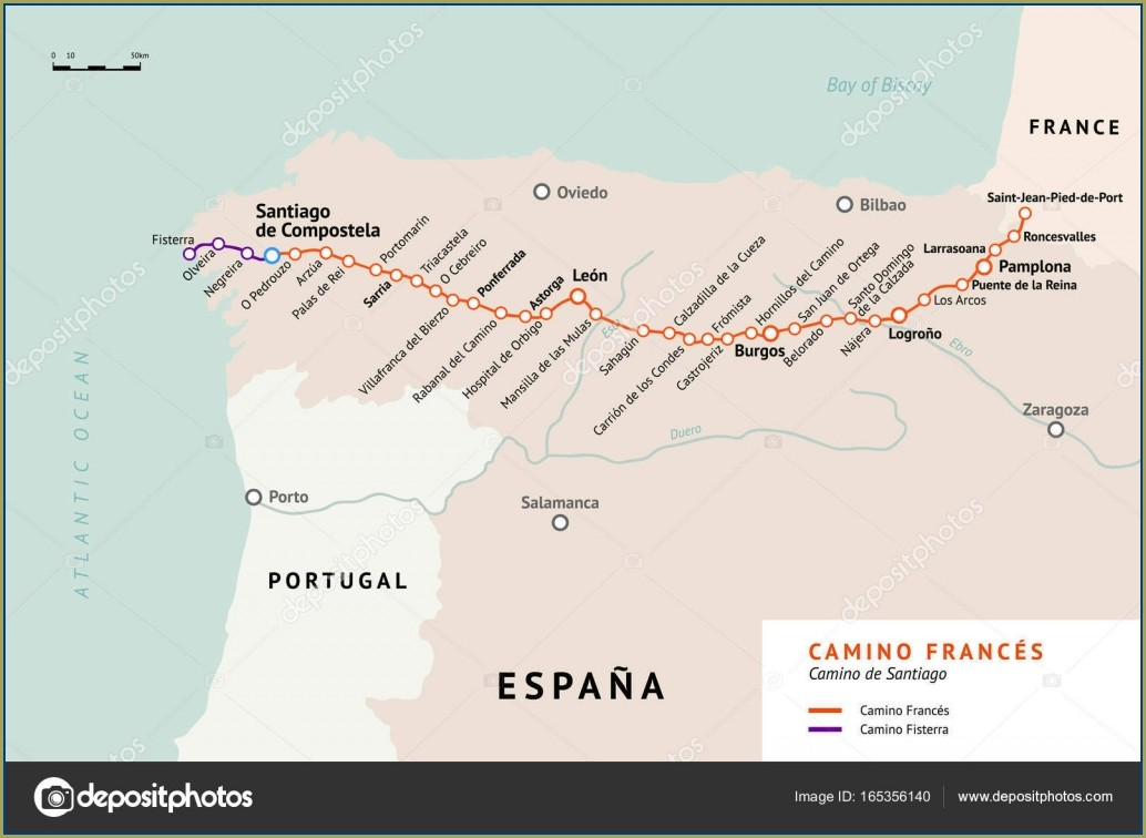 Camino De Santiago Map French Way