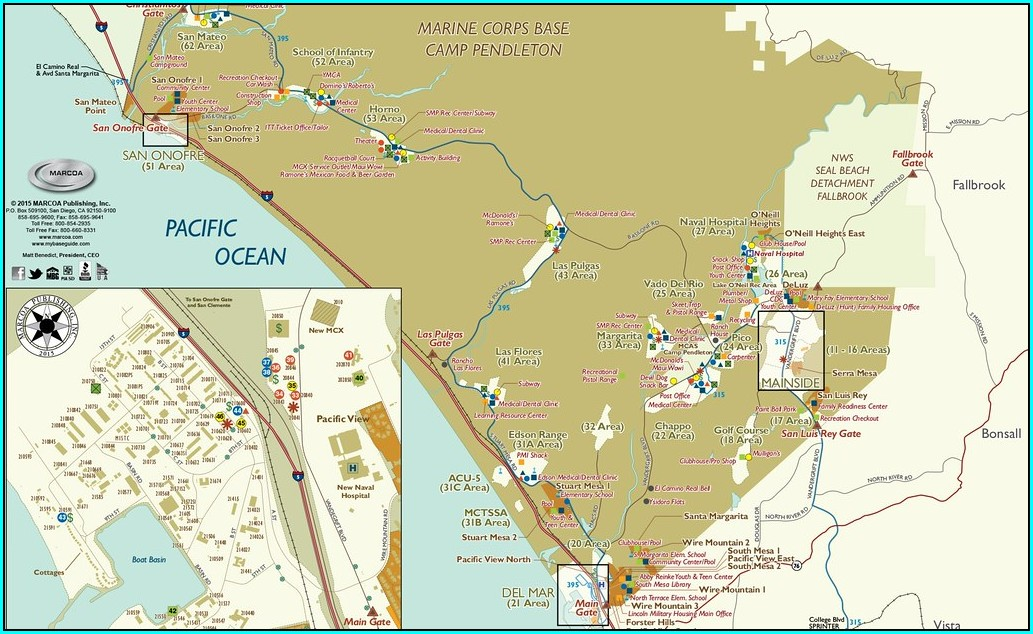 Camp Pendleton Bike Route Map