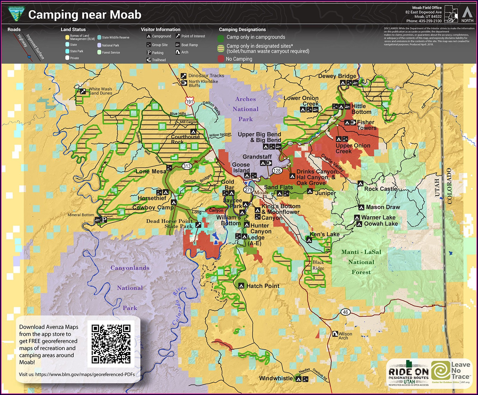 Camping Blm Land Map Utah