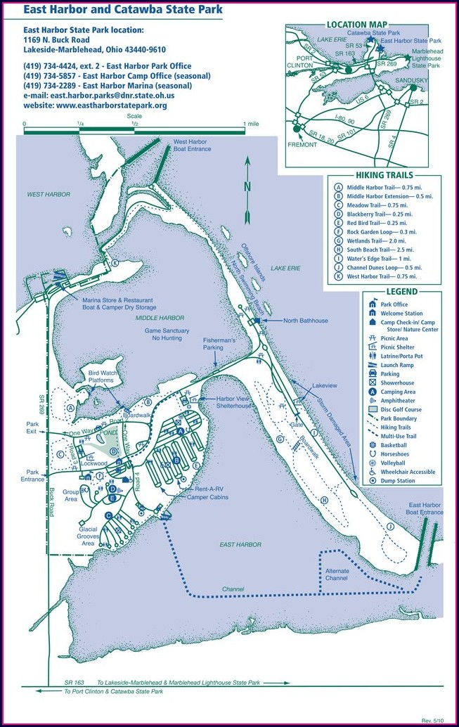 Camping East Harbor State Park Campground Map