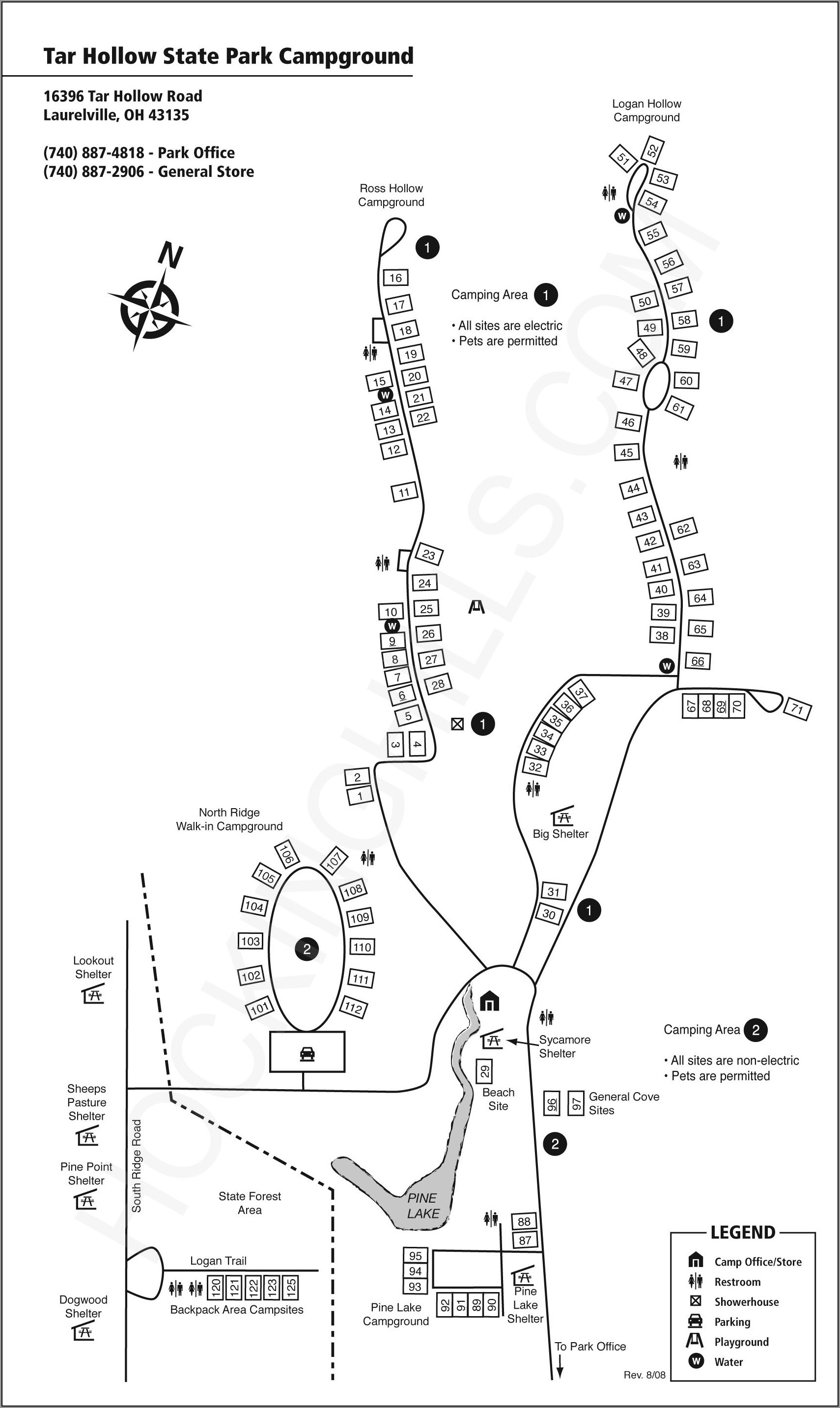 Camping Hocking Hills State Park Campground Map