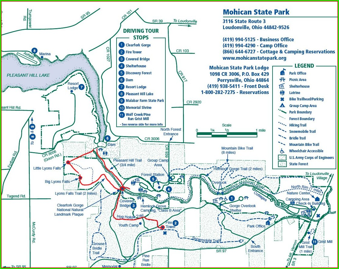 Camping Mohican State Park Map