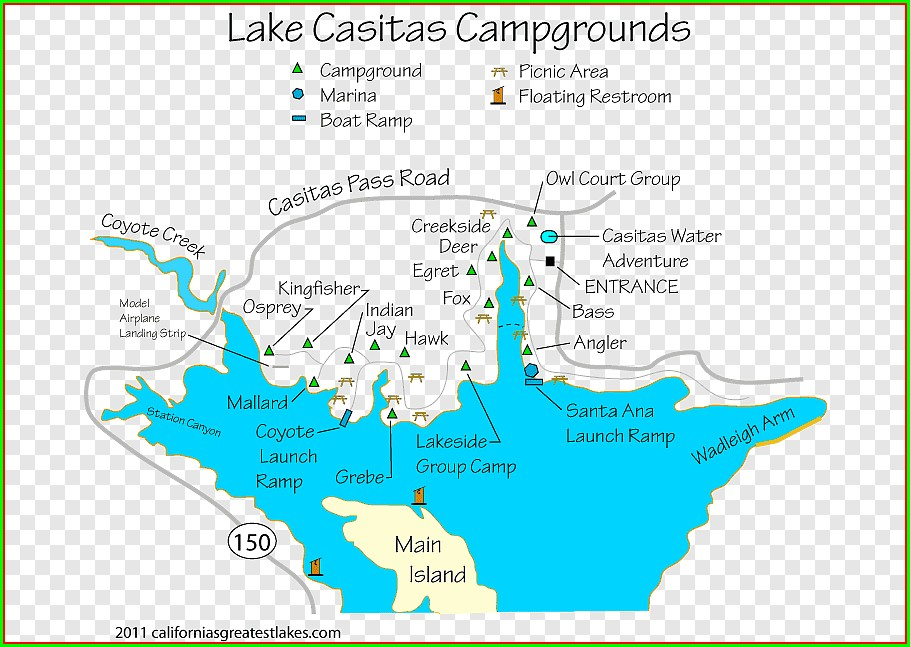 Campsite Cachuma Lake Campground Map