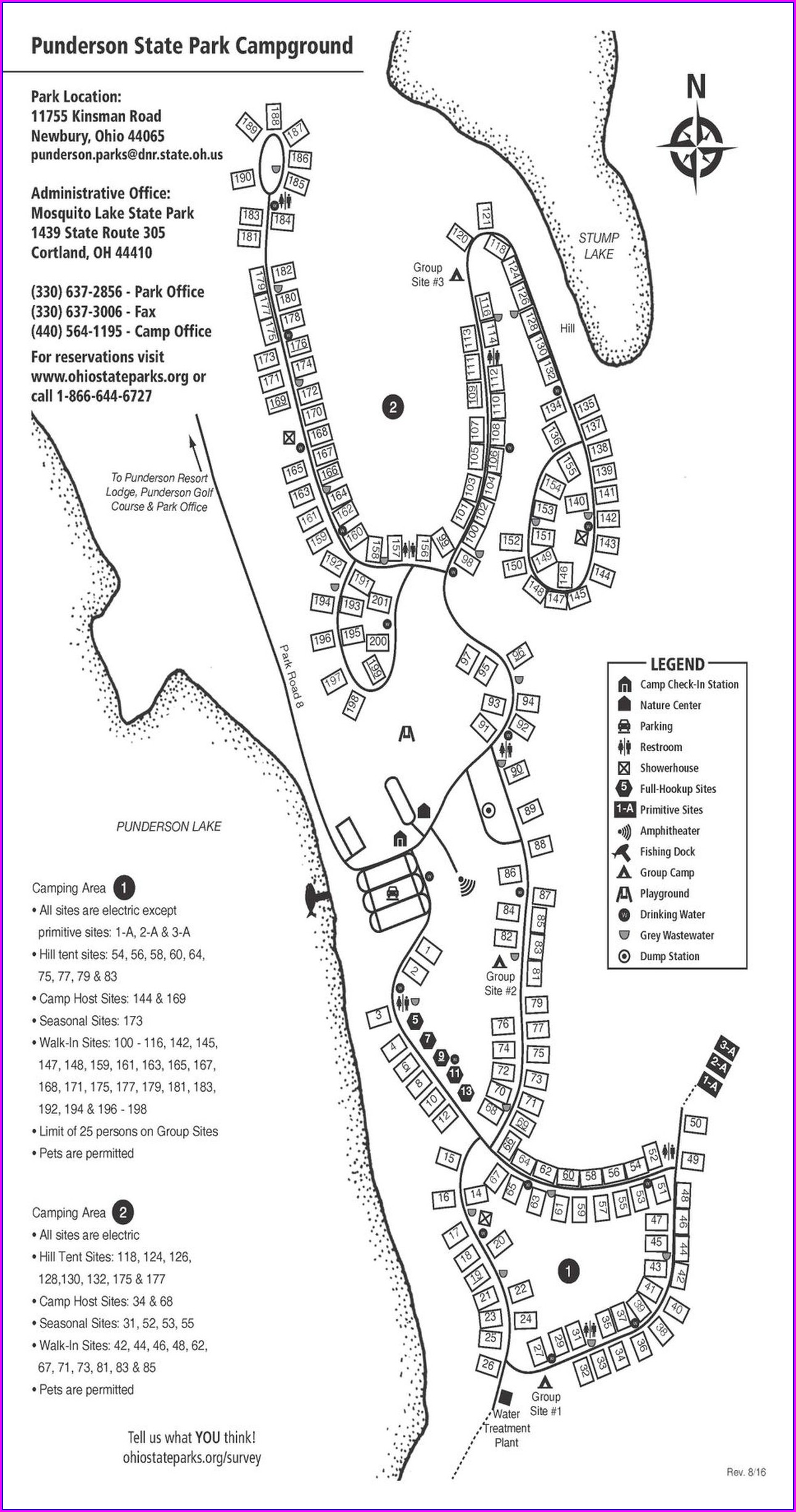 Campsite Mohican State Park Campground Map