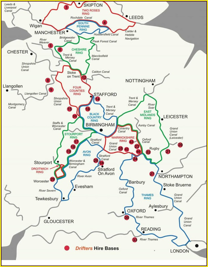 Canal Network Shropshire Union Canal Map