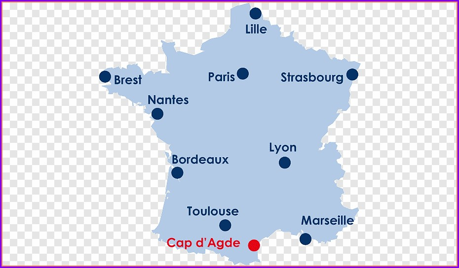 Cap D Agde Map