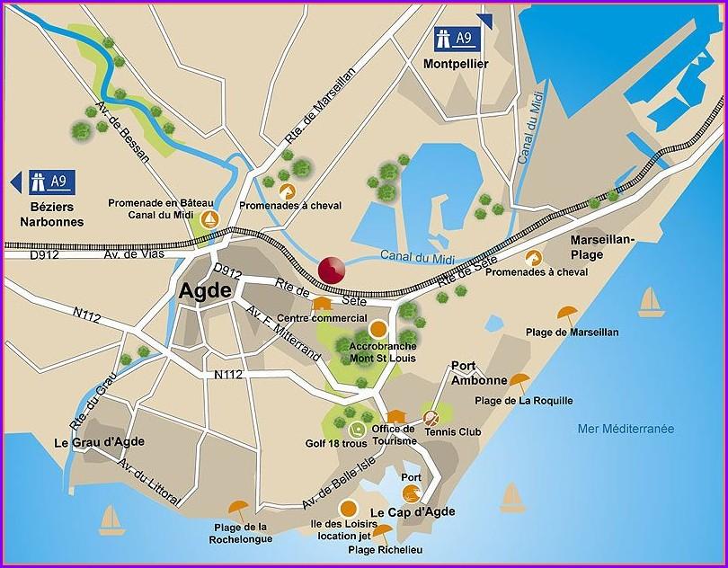 Cap Dagde Beach Map