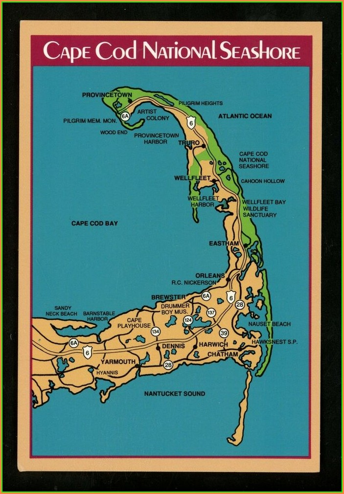 Cape Cod National Seashore Map