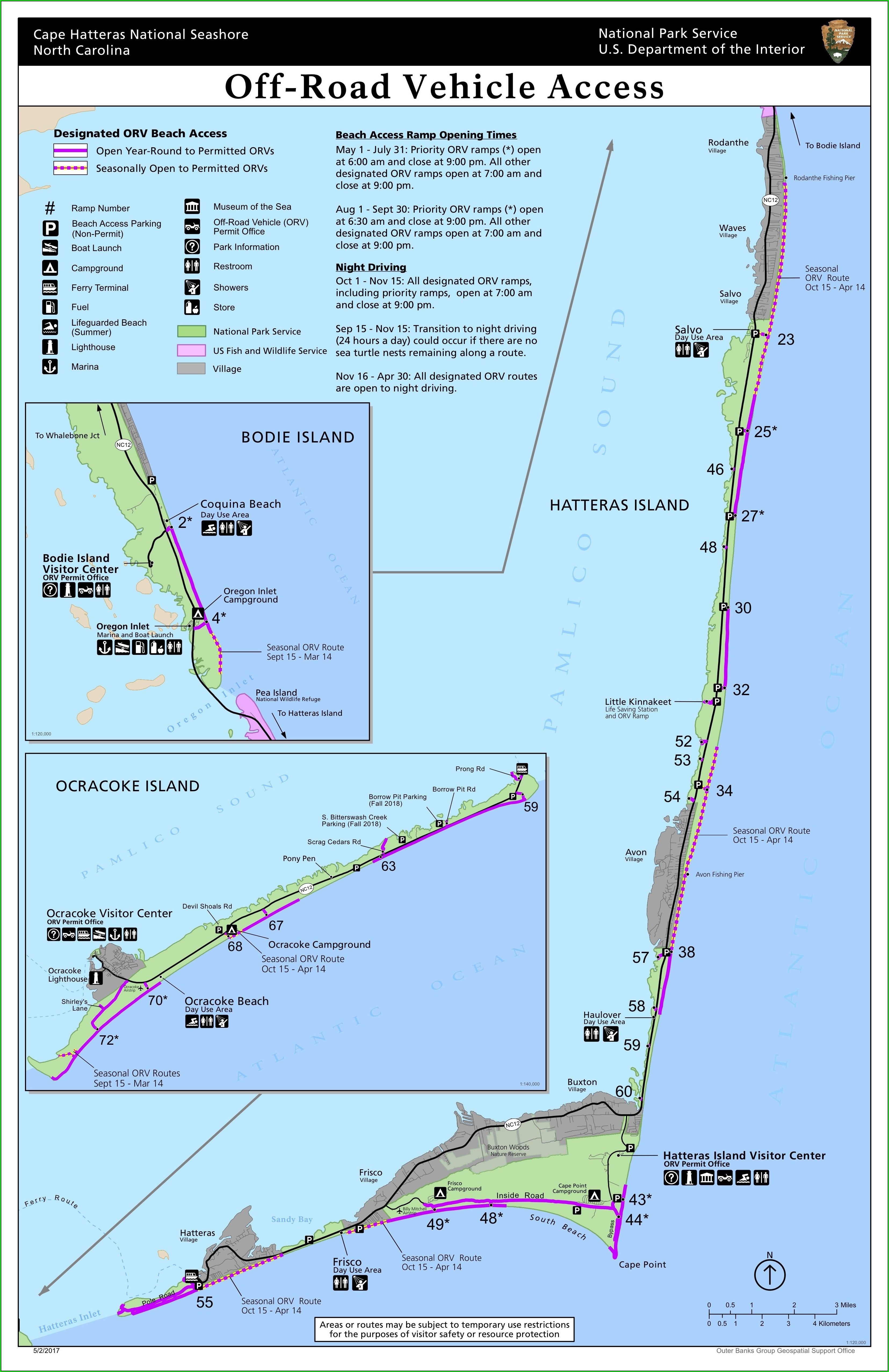 Cape Hatteras National Seashore Map
