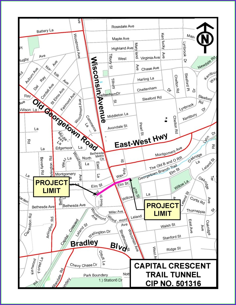 Capital Crescent Trail Map Pdf