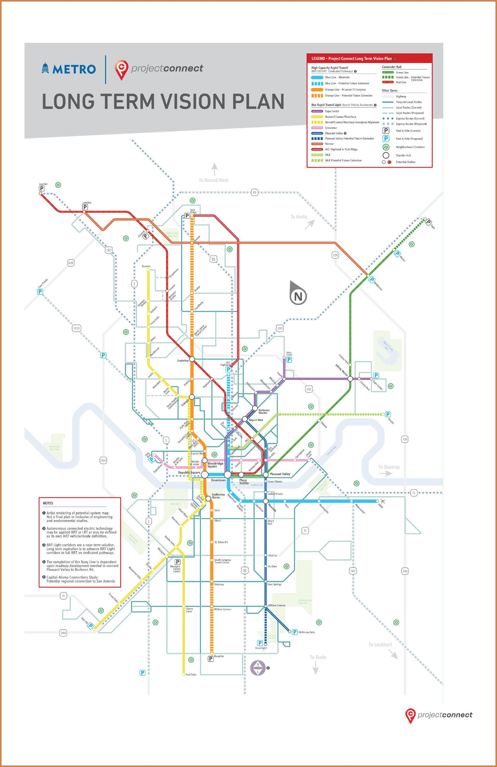 Capital Metro Bus Routes Map