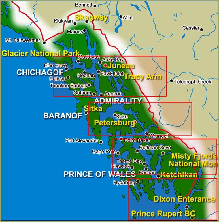 Carnival Alaska Cruise Map