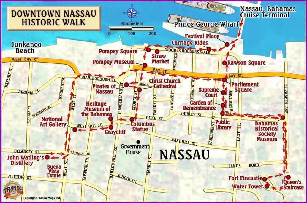 Carnival Cruise Nassau Bahamas Cruise Port Map