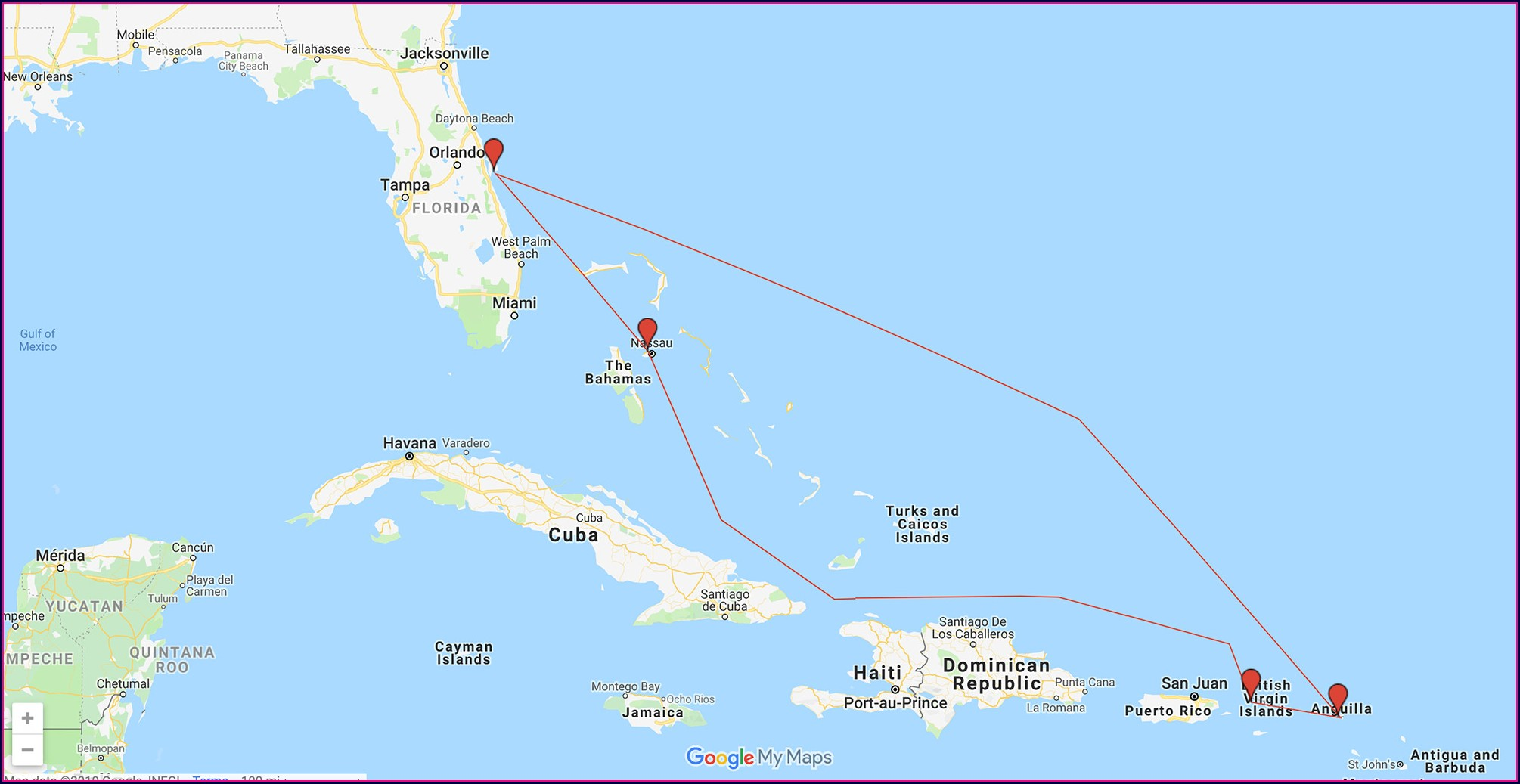 Carnival Cruise Route Map