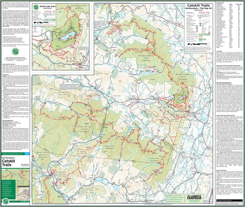 Catskill Trail Map Pdf