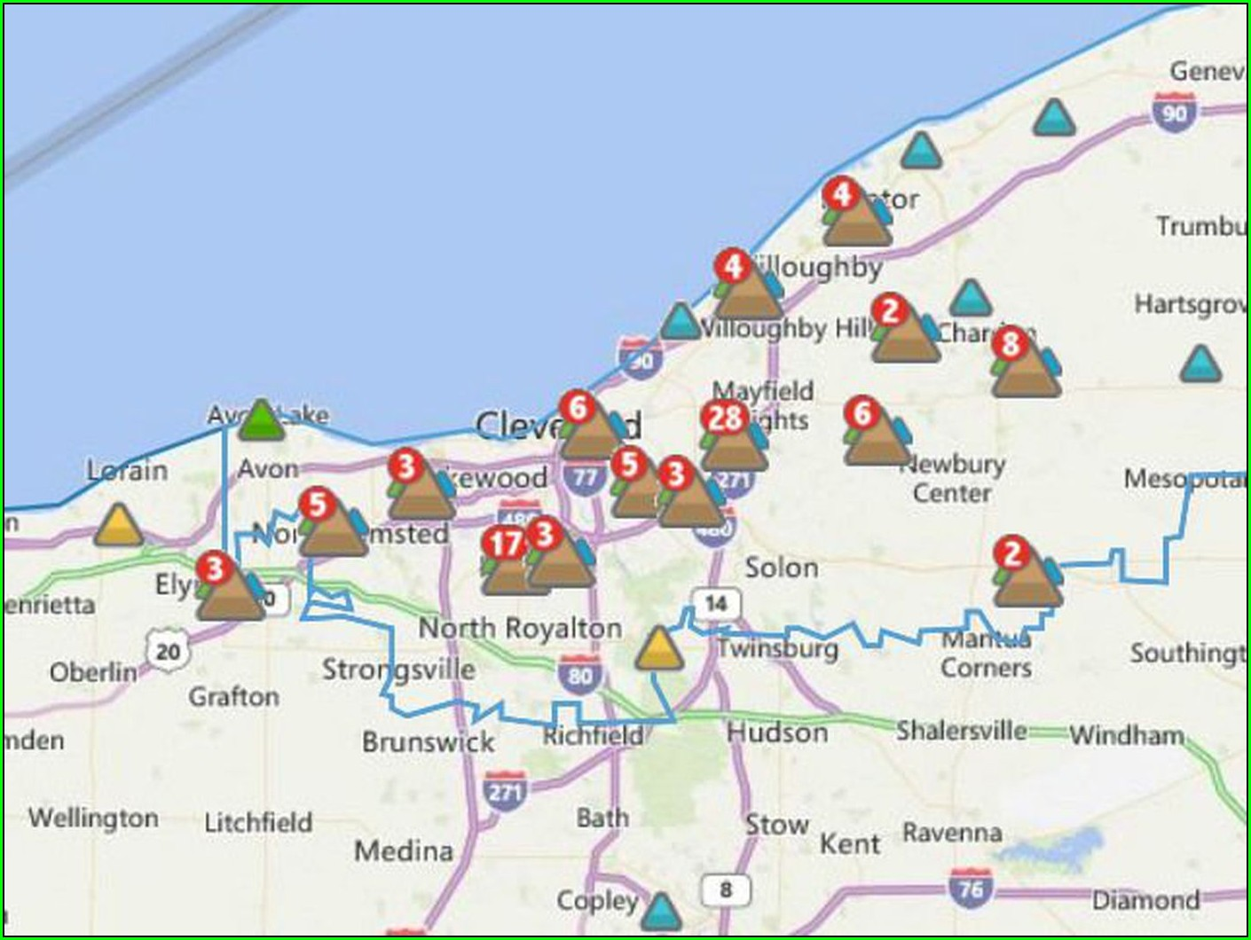 Cei Power Outage Map