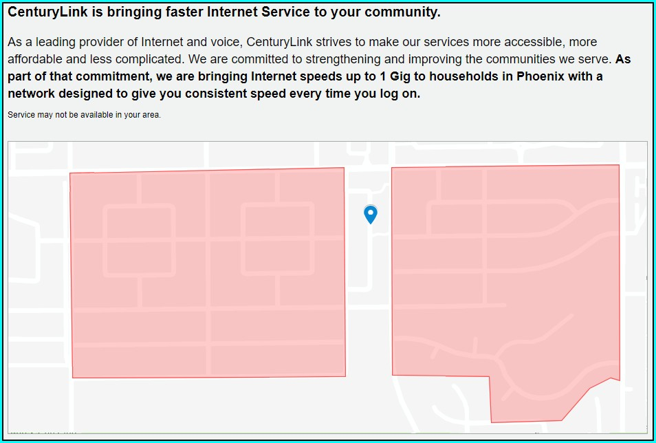 Centurylink Fiber Coverage Map