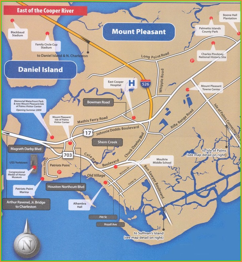 Charleston Sc Hotels Historic District Map