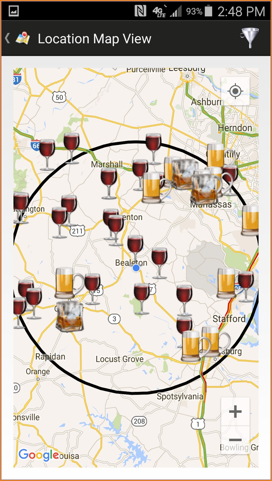 Charlottesville Va Wineries Map