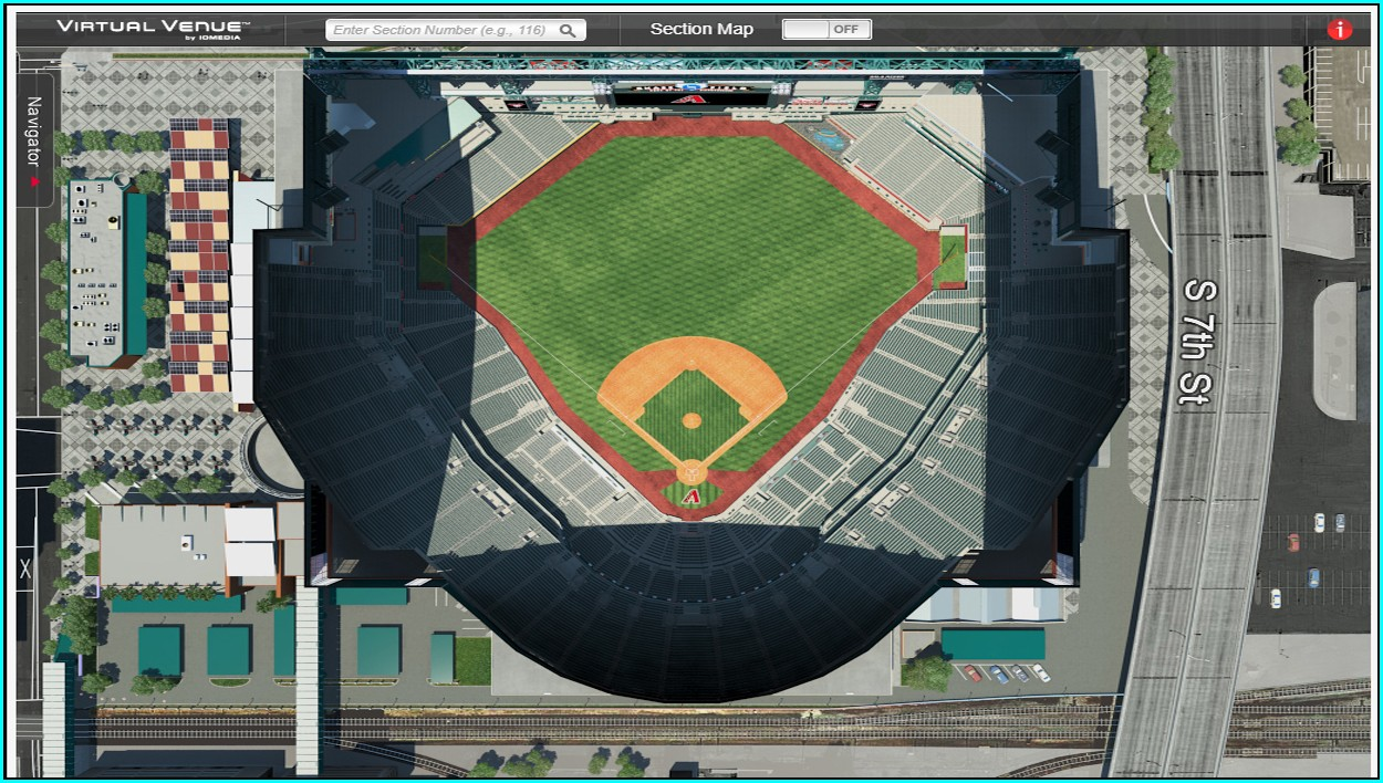 Chase Field Interactive Seating Map