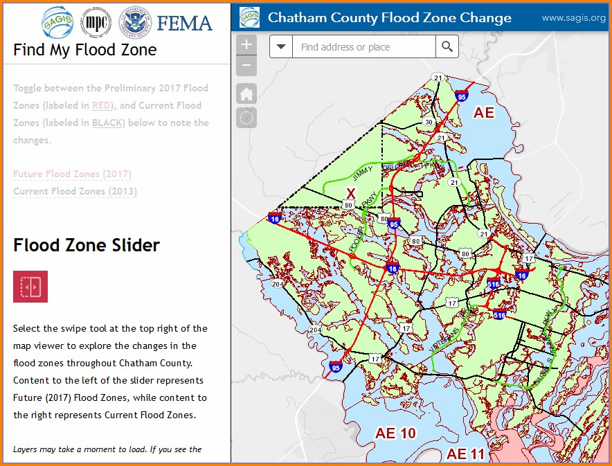 Chatham County Flood Zone Map