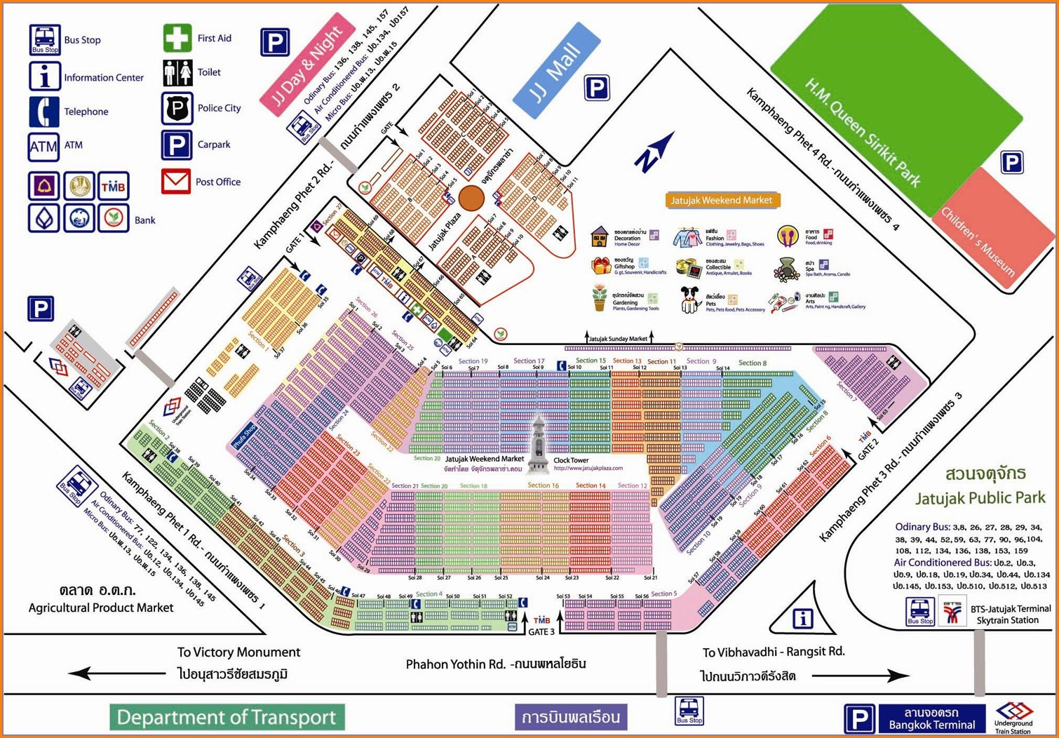 Chatuchak Weekend Market Map Gate