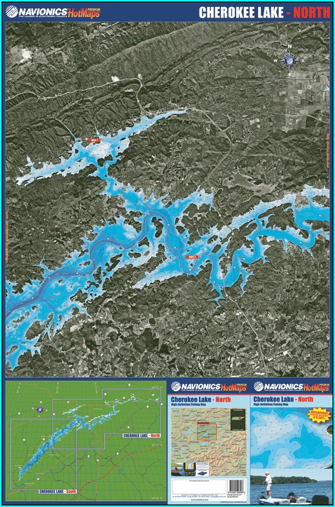 Cherokee Lake Tn Fishing Map