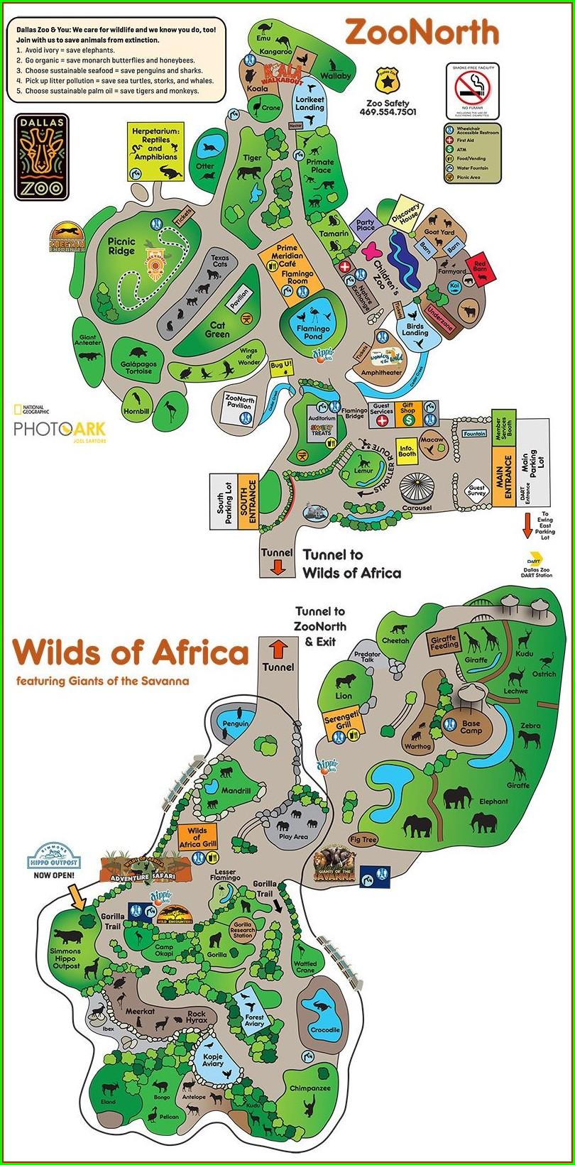 Cheyenne Mountain Zoo Map 2020