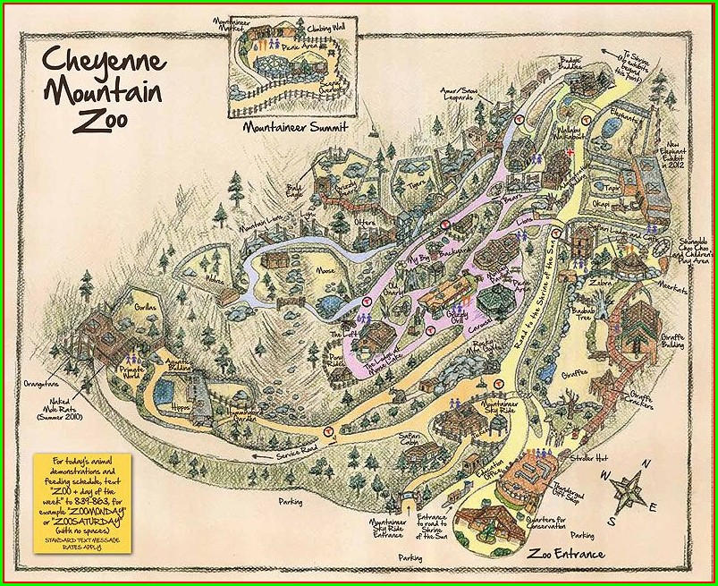Cheyenne Mountain Zoo Map