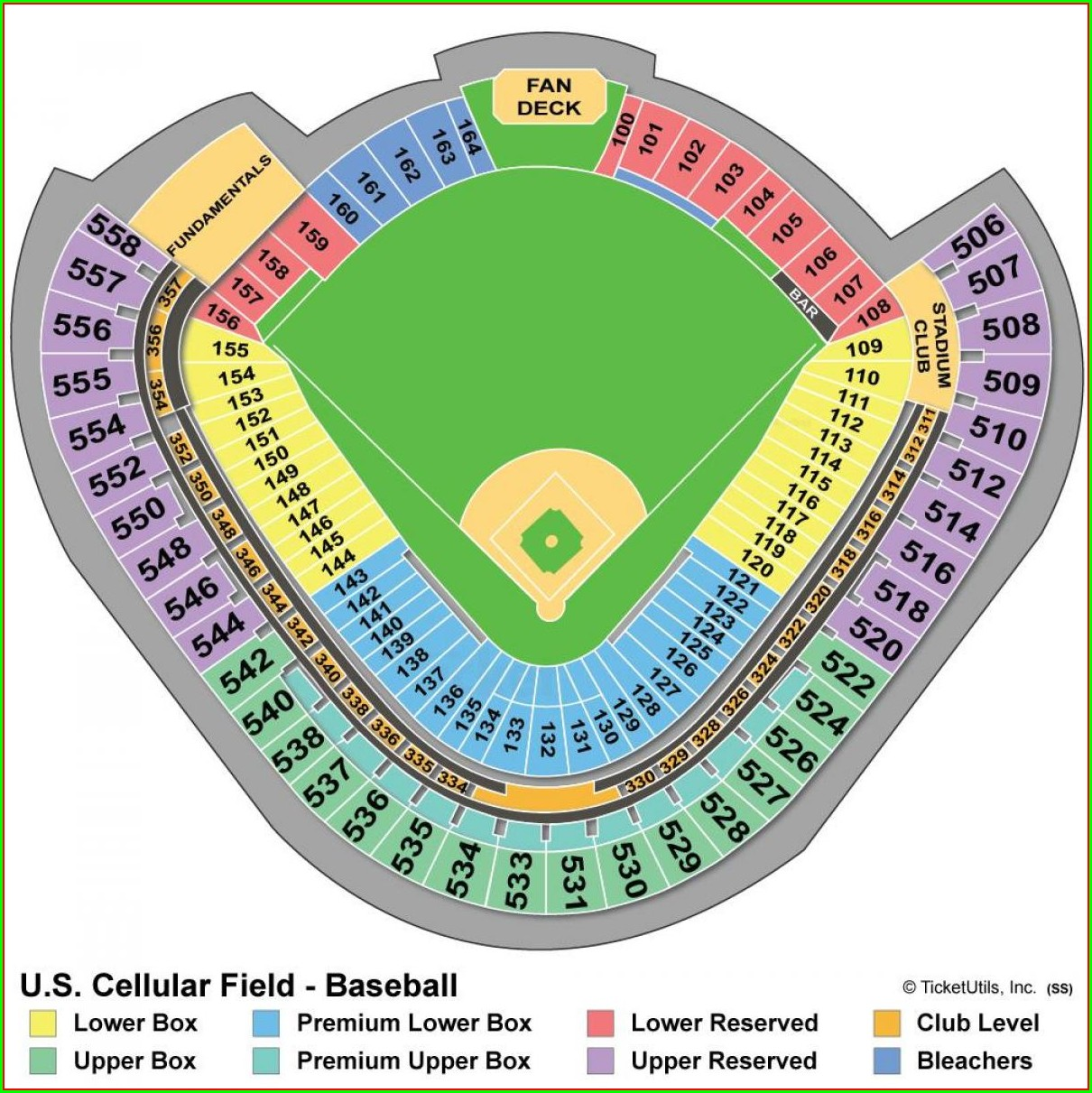 Chicago Cubs Seating Map