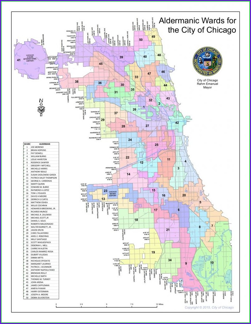 Chicago Ward Map 2018