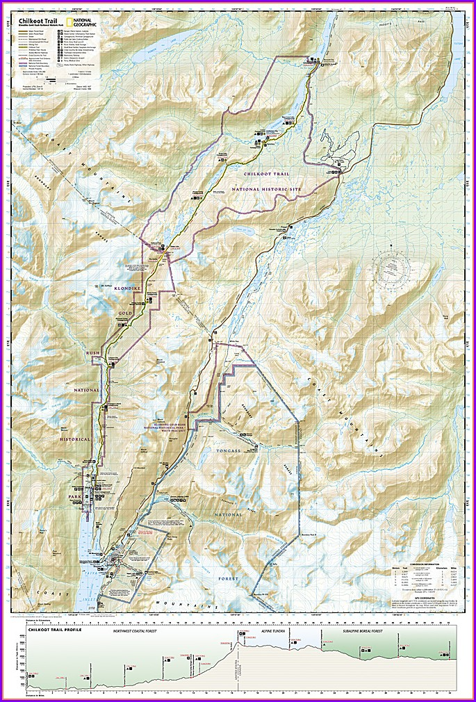 Chilkoot Trail Elevation Map