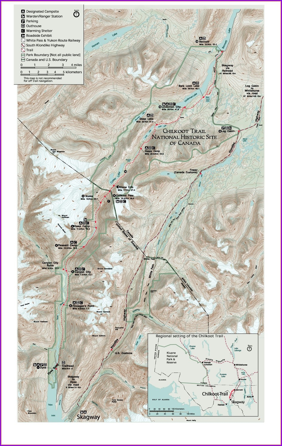 Chilkoot Trail Map Pdf