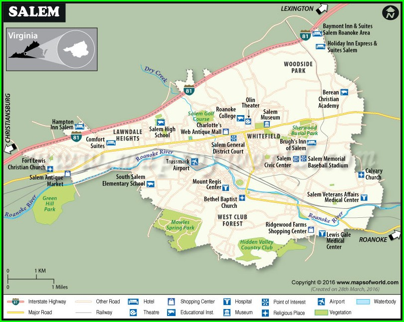 City Salem Va Gis Map