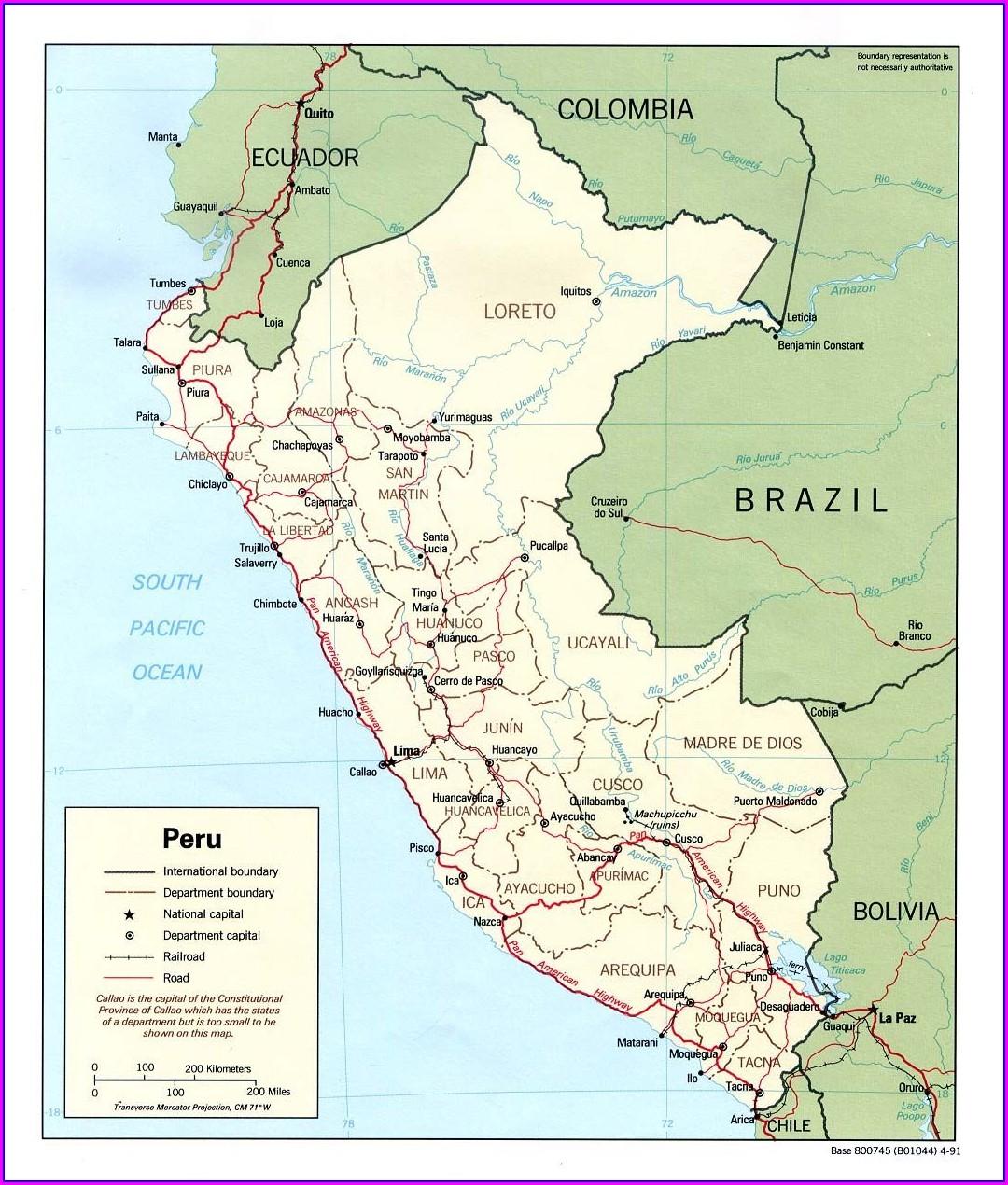 Ciudad Iquitos Peru Mapa