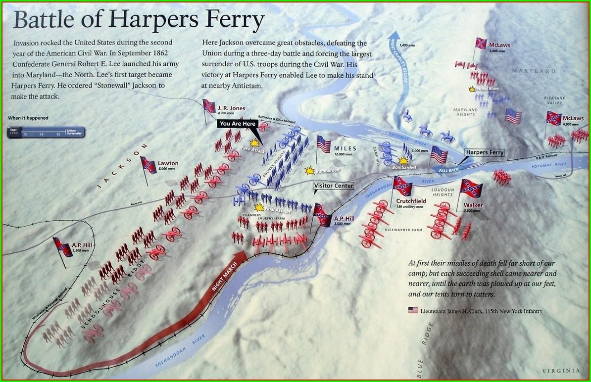 Civil War Battles In West Virginia Map
