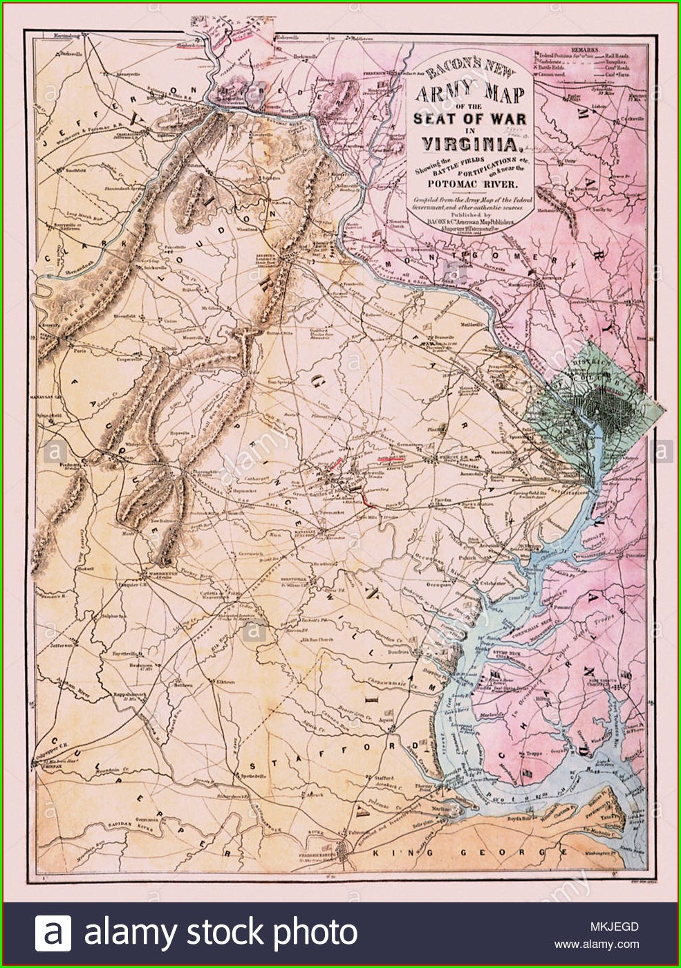 Civil War Virginia Map