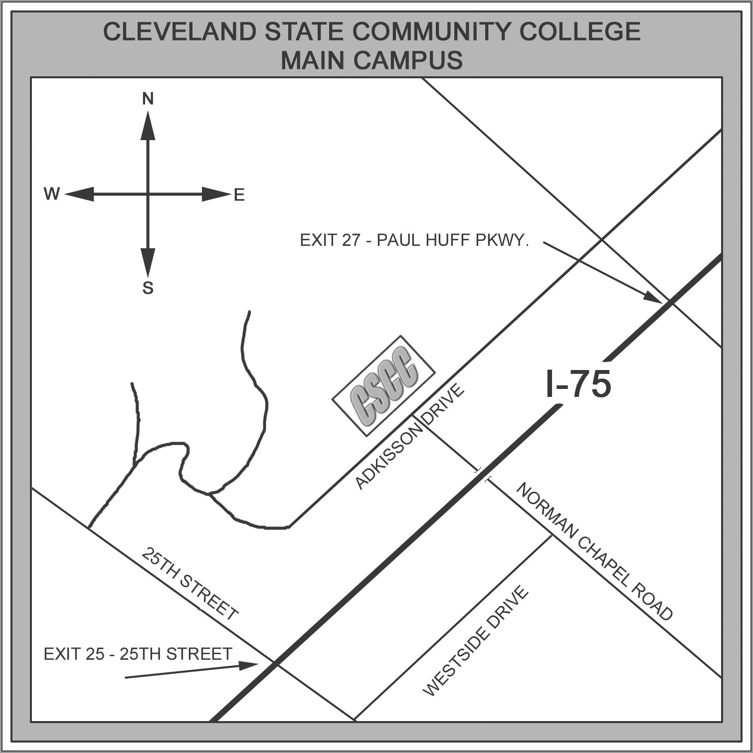 Cleveland State Community College Campus Map