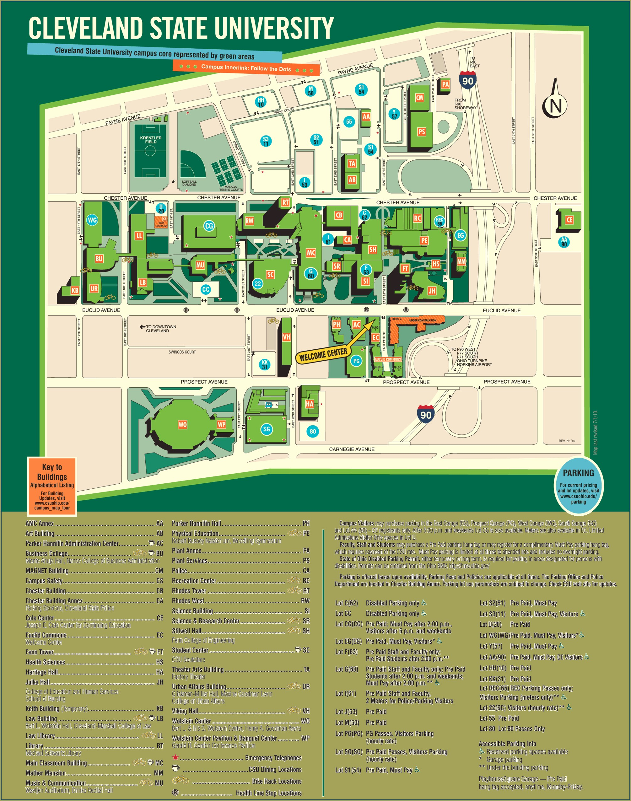 Cleveland State University Campus Map