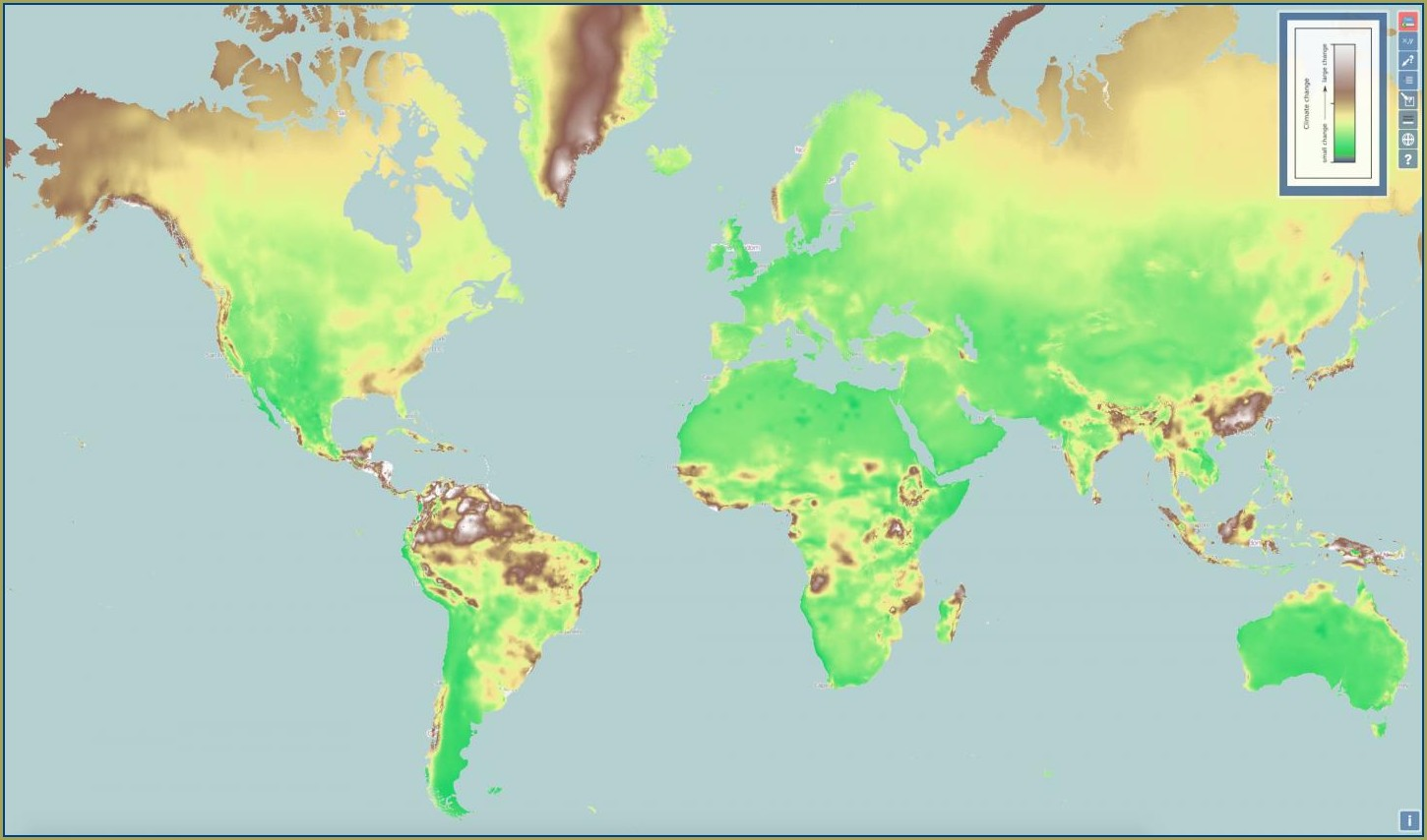 Climate Change Prediction Map World